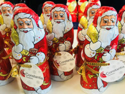 While children in the northern hemisphere are still enjoying the summer delights of outdoor swimming, the chocolate factories are already working flat out to produce Father Christmases.