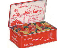 Around 90 years ago, Haribo sold its wine gums in metal tins. Photo: HARIBO