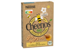 Brown Nestlé CHEERIOS packaging with bee